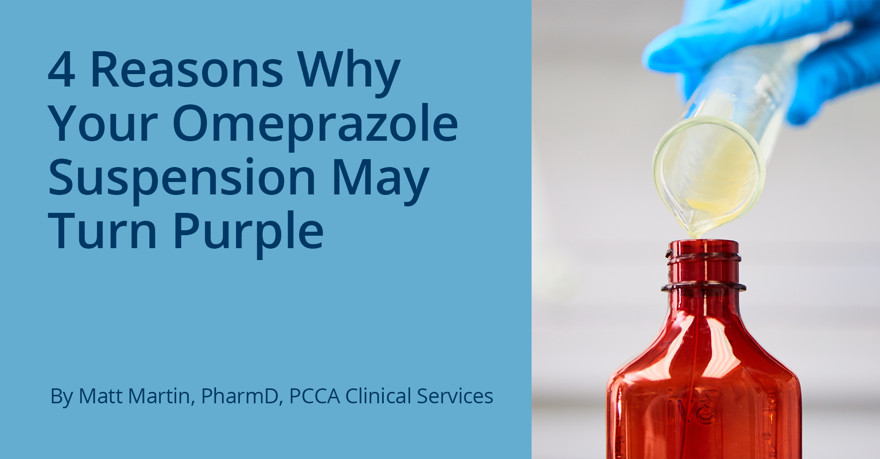 The Pcca Blog 4 Reasons Why Your Omeprazole Suspension May Turn